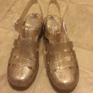 Shoes - 💝 Glittering Jellies shoes💝 Gold in color.